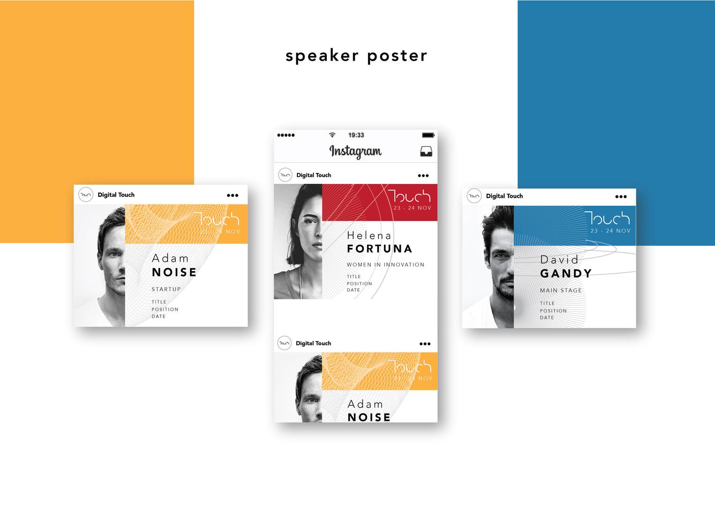 touch speaker poster