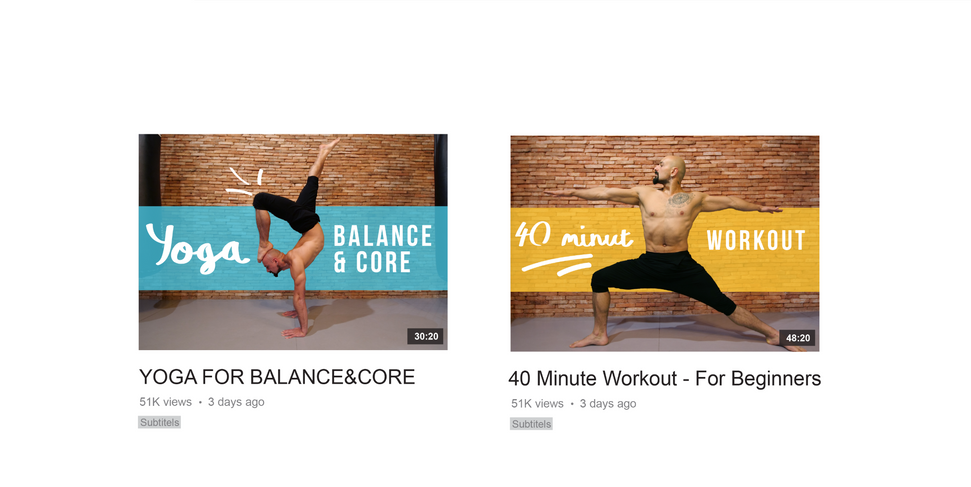 Yoga Guru balance and core