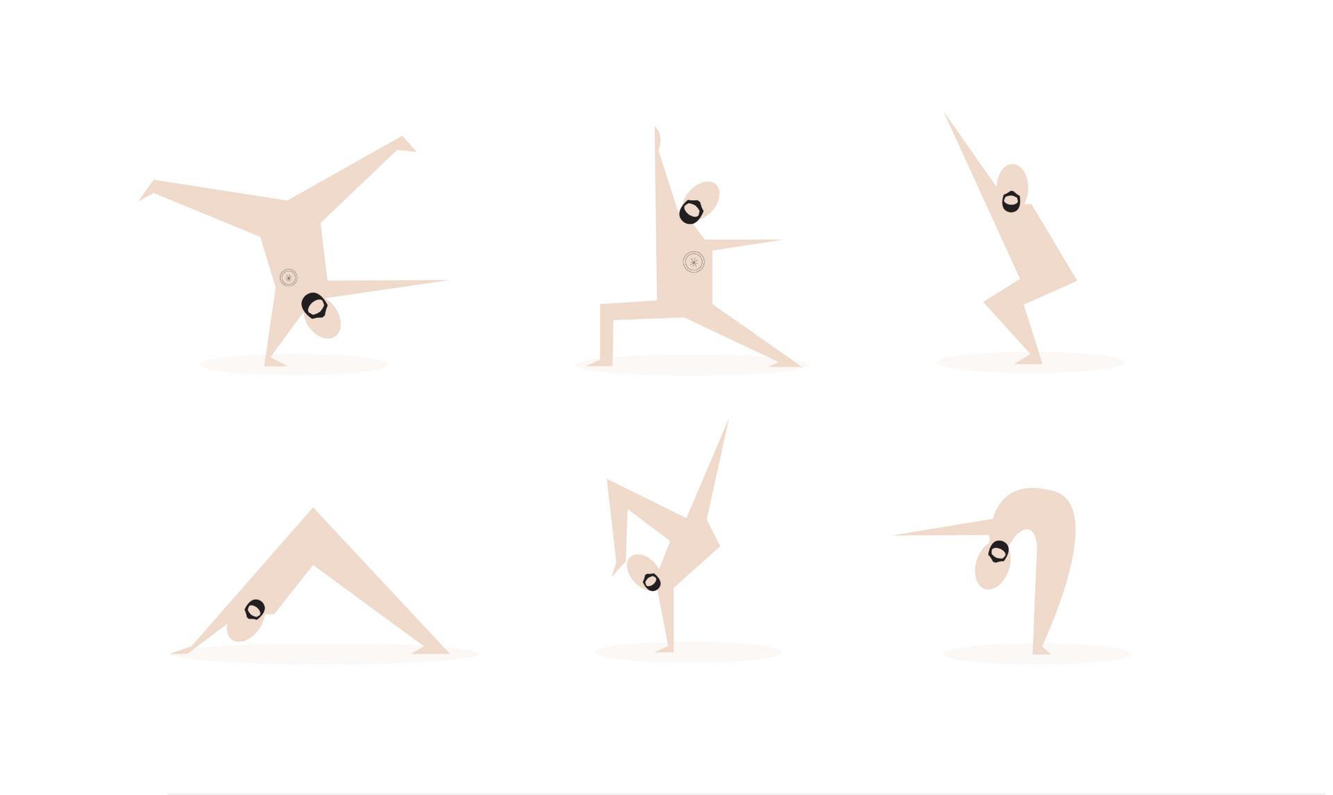 Yoga Guru poses