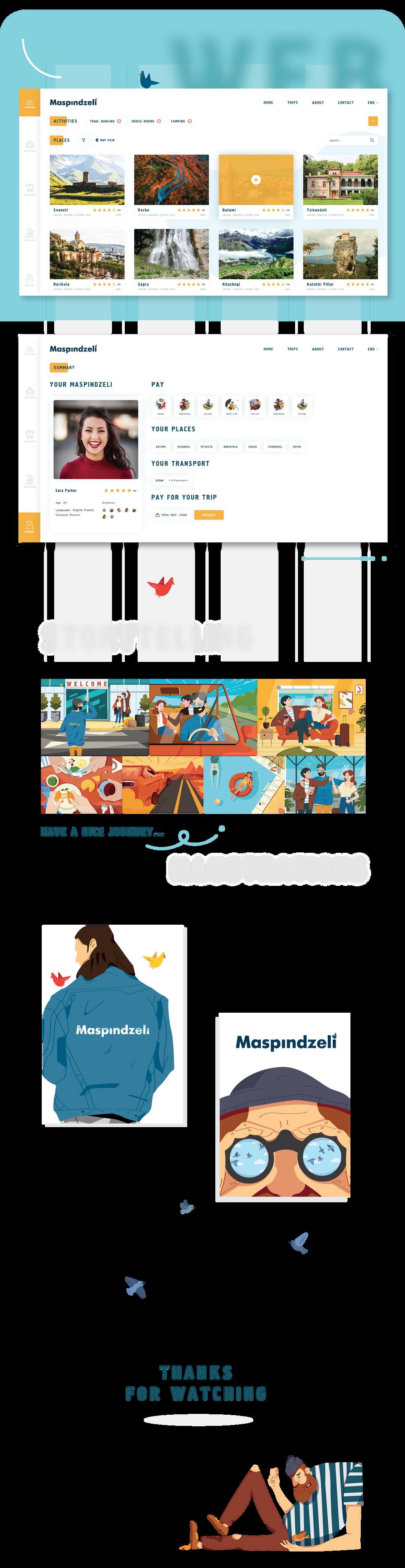 Maspindzeli illustrations