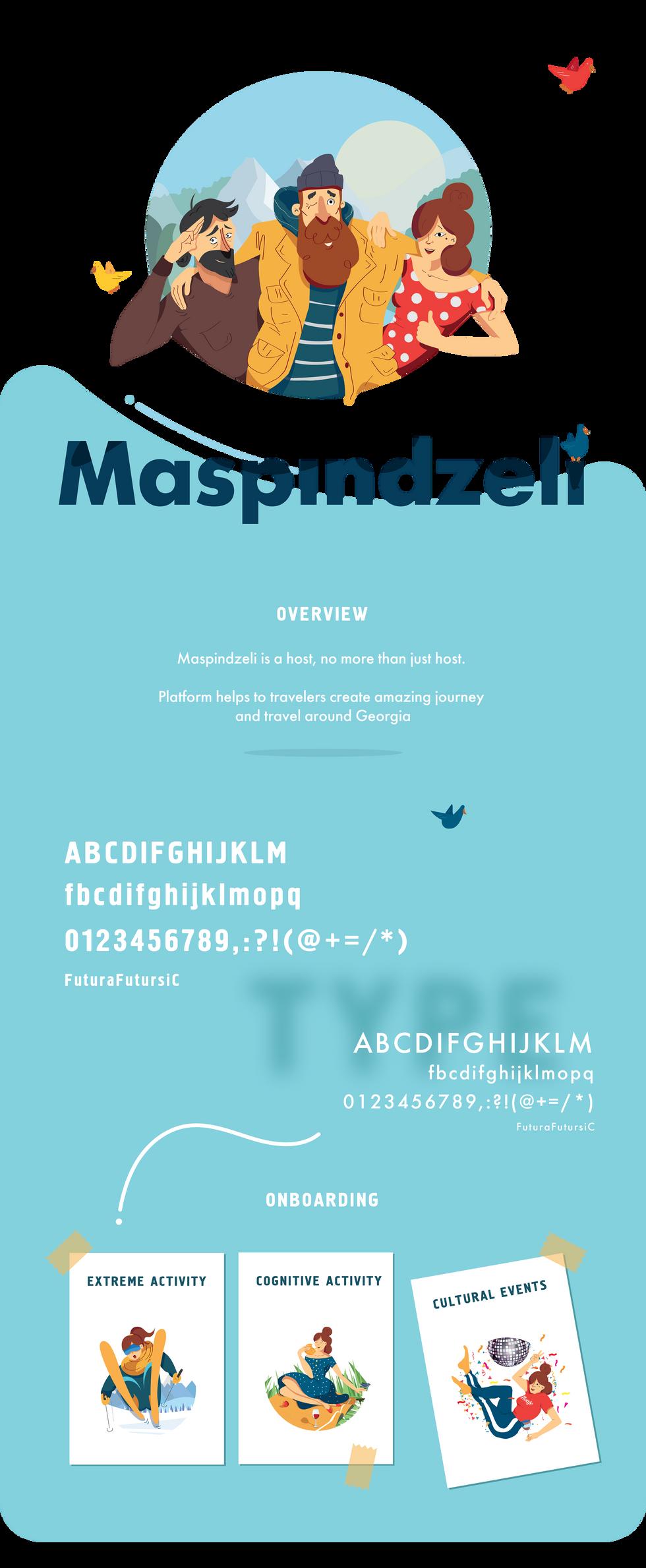 Maspindzeli Brand visual identity