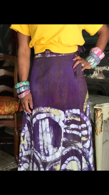 Batik Skirt & Accessories