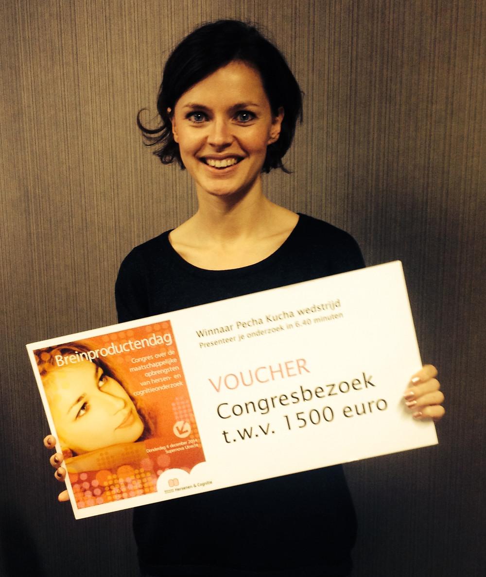 Liza Cornet, winnaar Pecha Kucha presentatiewedstrijd 2014