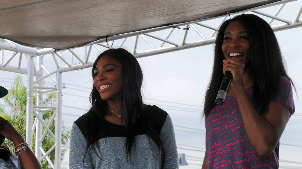 Tennis legends Venus and Serena Williams (Photo By: Thai Lee)
