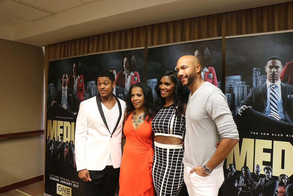 MEDIA Cast: (L to R) Pooch Hall, Penny Johnson Jerald, Denise Boutte and Stephen Bishop (pictured by: Keith McCalleb II)
