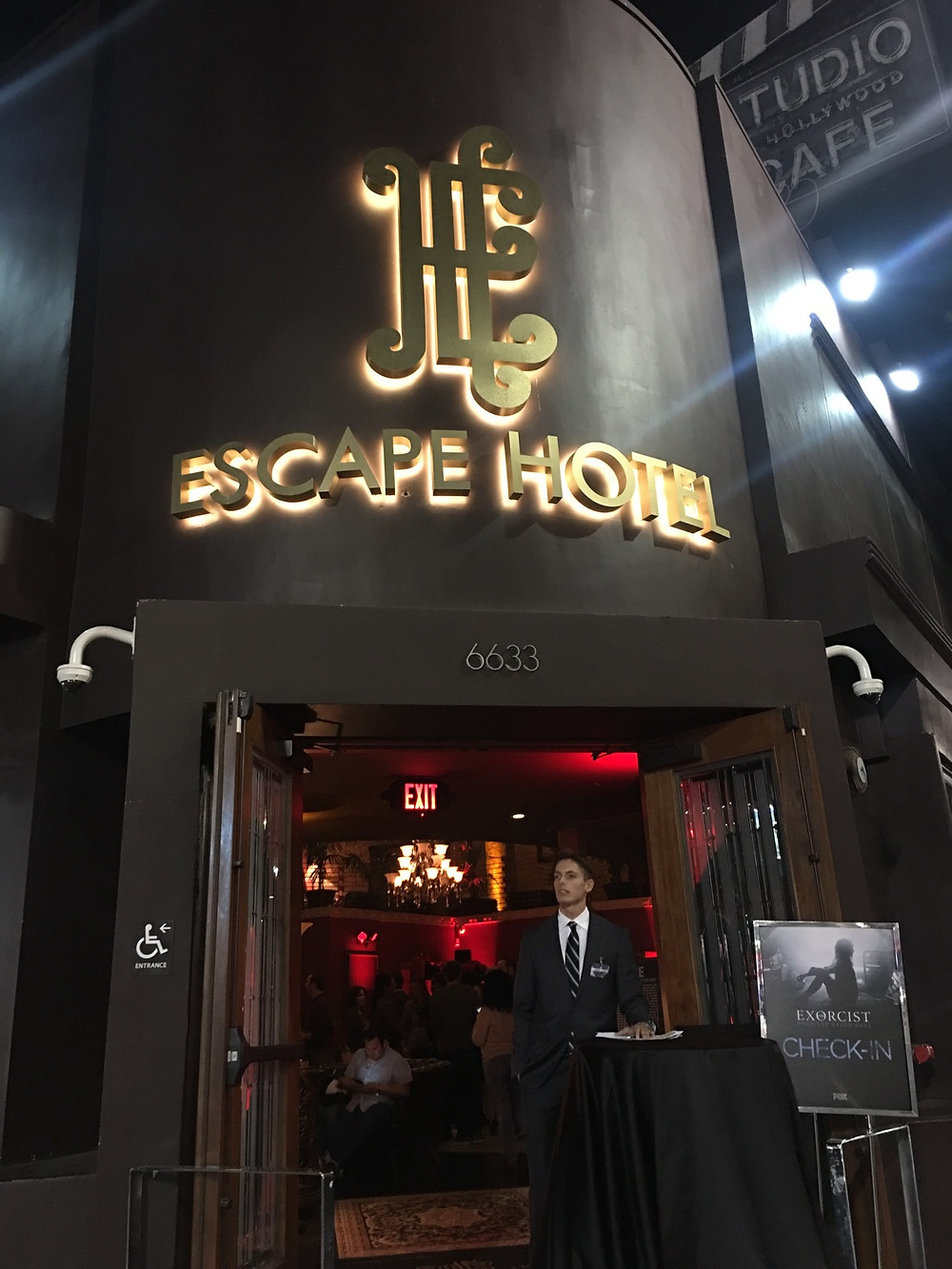 Outside of the Escape Hotel (pictured by Keith McCalebb)