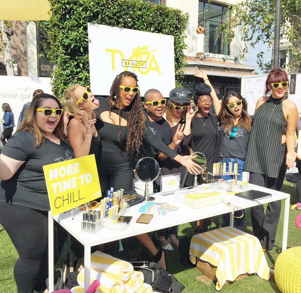 Tyra Banks and her Tyra Beauty team Photo by: SimplyStylistxo (Instagram)
