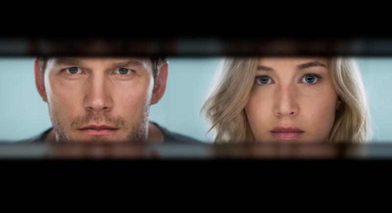 Chris Pratt and Jennifer Lawrence (Courtsey of PASSENGERS)