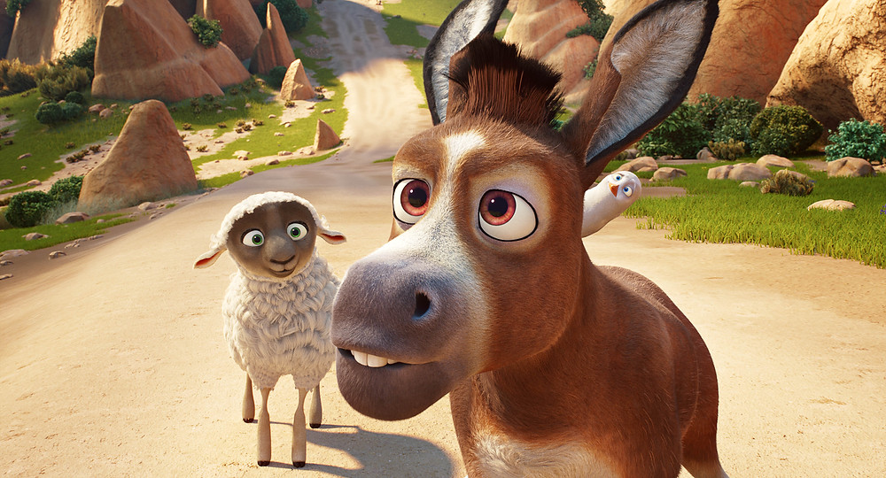 Ruth (Aidy Bryant), Bo (Steven Yeun) an Dave (Keegan-Michael Key) in Sony Pictures Animations' THE STAR. |