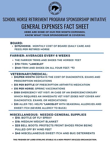 Sponsor-A-Horse Sponsorship Initiative E
