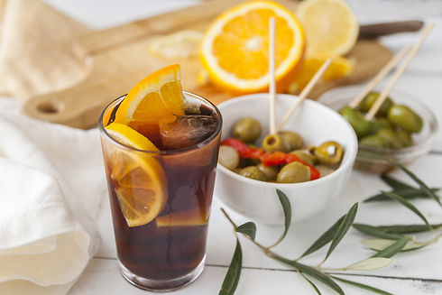 Vermouth, traditional Spanish appetizer