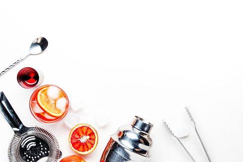 Popular alcoholic cocktail Negroni with