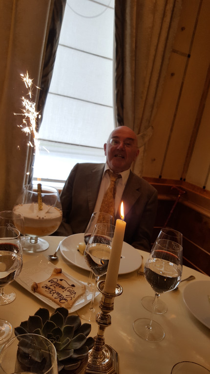 Family and friends celebrate Erik's 75th birthday