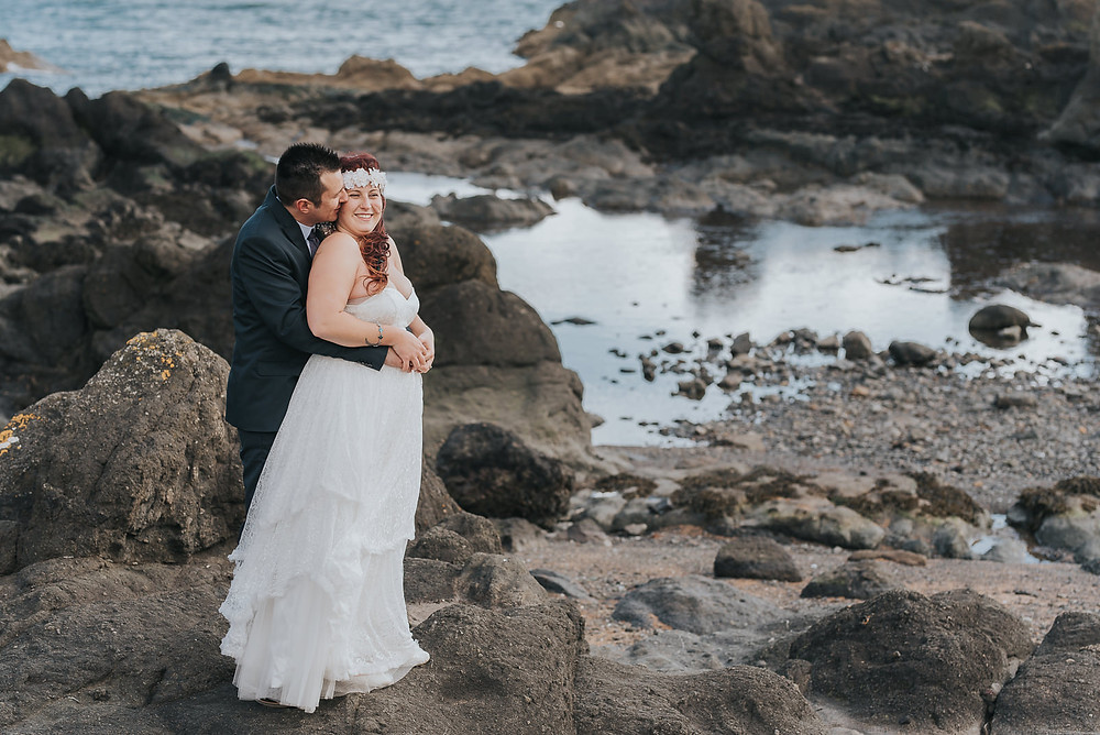 Ines & Romain's sneak peek from their elopement at Lady's Tower in Elie, Scotland, wedding photographer Scotland, Karol Makula Photography