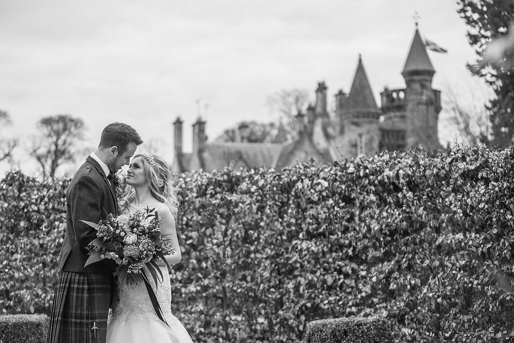 Wedding Inspiration Shoot at Carlowrie Castle in Edinburgh, Scotland