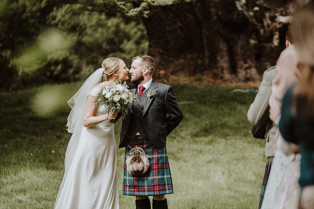 Lana & Mathew's sneak peek from their wedding day at Broxmouth Park in Dunbar, Scotland.