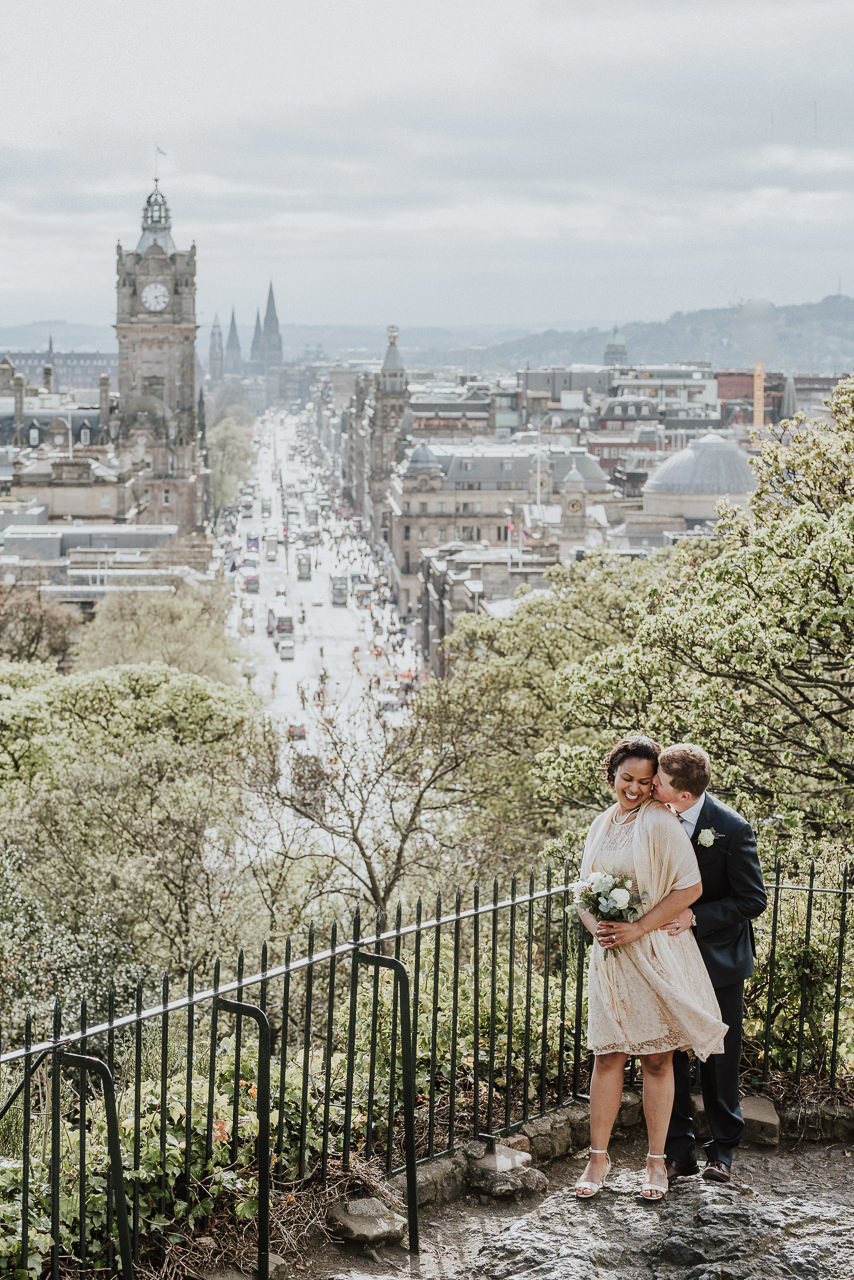 Olivia & Joshua intimate elopement in Edinburgh