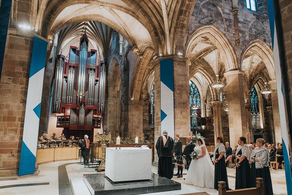 St Giles' Cathedral, Edinburgh City Chambers, Scotland, wedding photographer, photos, Edinburgh
