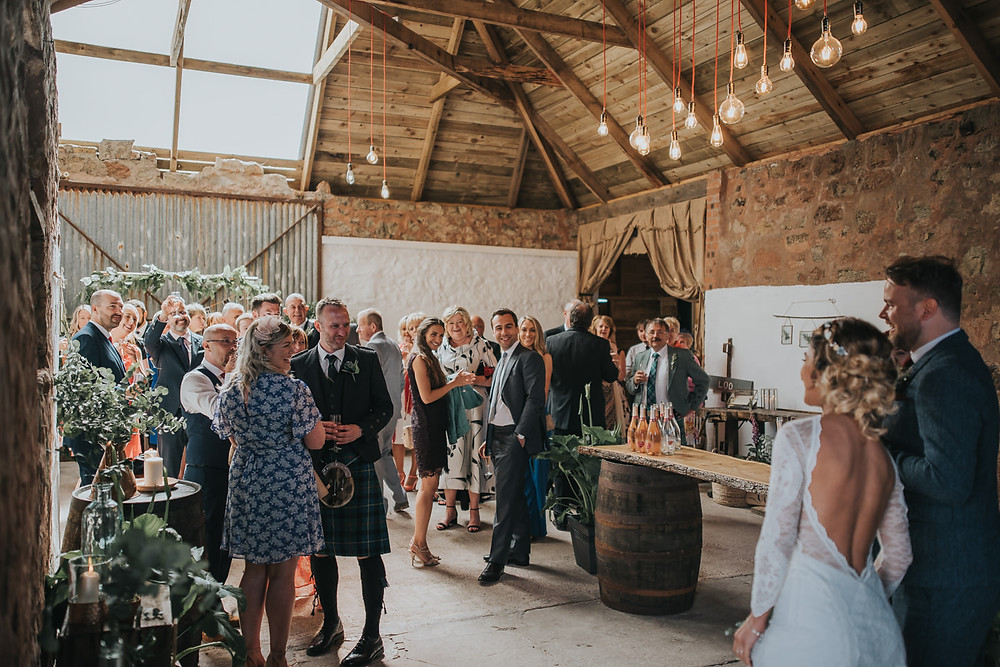Konul & Jordan's sneak peek from their wedding at The Cow Shed Crail, wedding photographer Edinburgh, Glasgow, Scotland, Karol Makula Photography