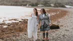 Clare & Jen's wedding at Rosslea Hall Hotel, Scotland.