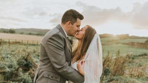 Laura and William's wedding at Dalduff Farm, Scotland.