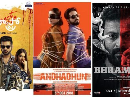 Remakes vs Original: Bhramam and Maestro vs Andhadhun