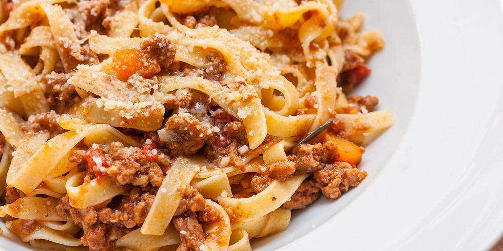 Tagliatelle with Bolognese Ragu - $15