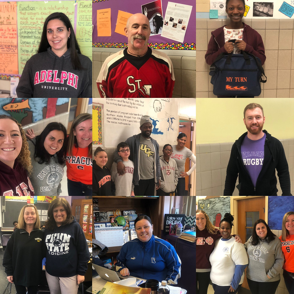 Shell Bank staff and students participated in College Awareness Day