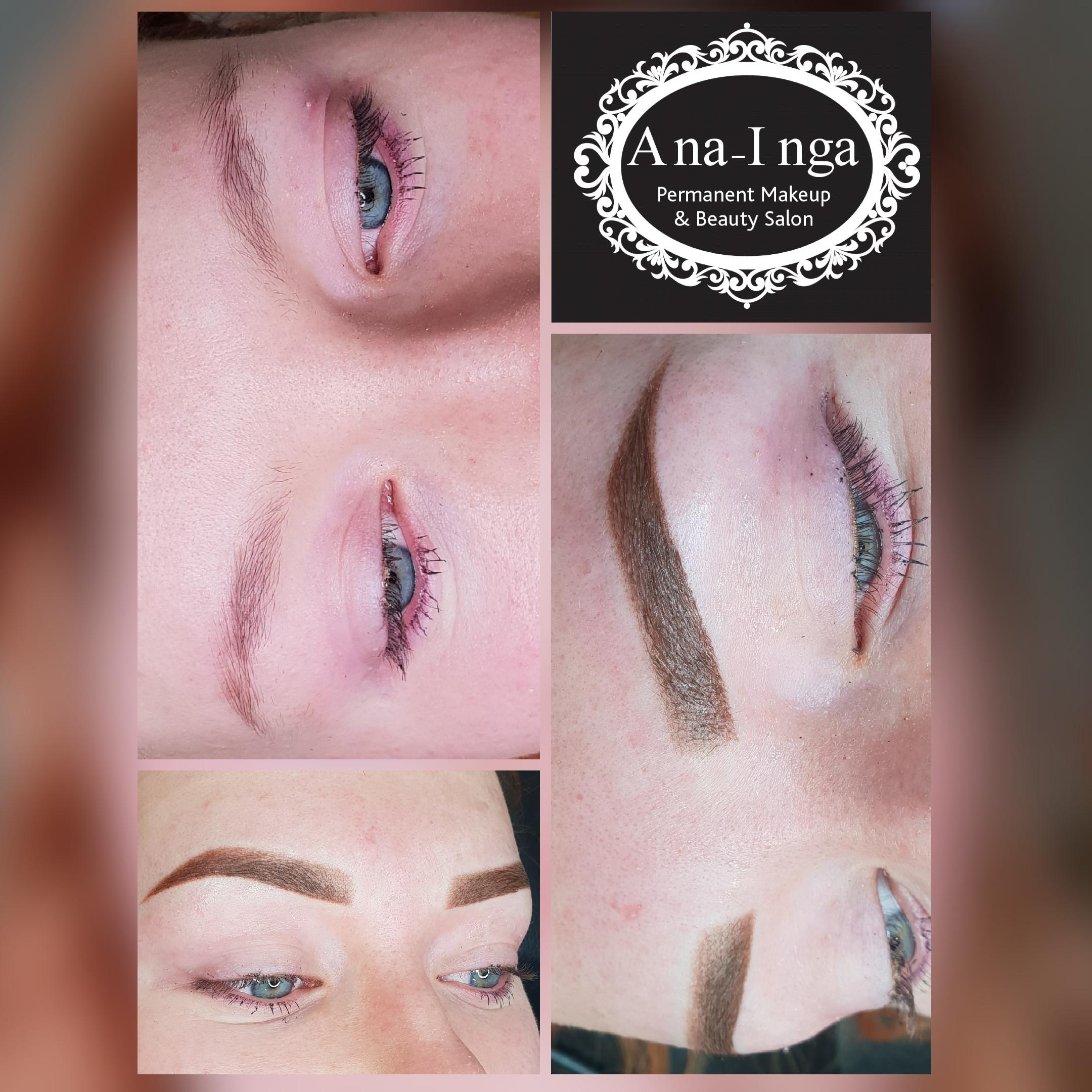 Eyebrow micropigmentation  (tattoo)