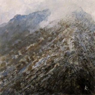 'Approaching Am Bodach, the Mamores'