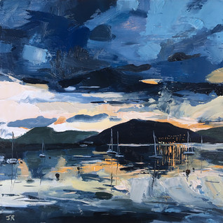 Port Bannatyne Night Reflections