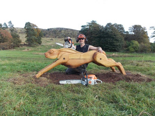 Lang Craigs Hare: Commissioned by Woodland Trust Scotland