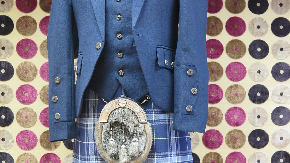 (HIRE) : FULL HIGHLAND DRESS KILT OUTFIT PRIDE OF THE CLYDE TARTAN