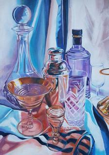 Cocktail Hour. Acrylic