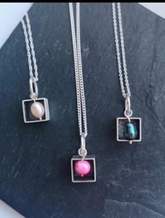 Pearl Cube Pendant