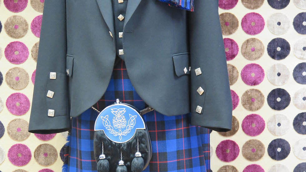 (HIRE) : FULL HIGHLAND DRESS KILT OUTFIT RANGERS TARTAN