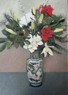 Oriental Vase of Flowers