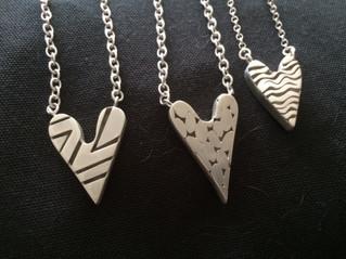 Silver Heart Shaped Pendants