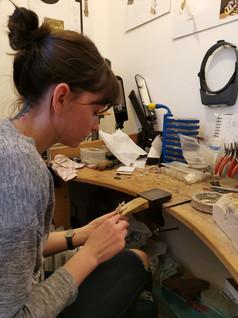 Lisa Working in her Studio