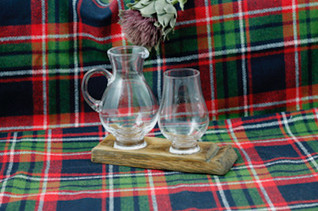 Whisky Barrell Stave and 1 Glass