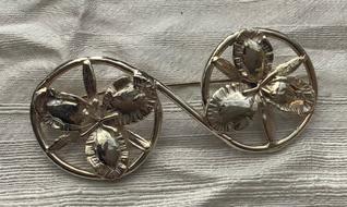 Flower Wheels Brooch