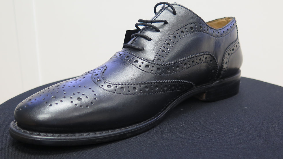 BLACK LEATHER DAY BROGUE