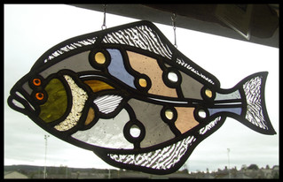 Halibut, Fish Series, Free Hanging Panel