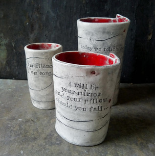 3 Bed Vases with Poetry
