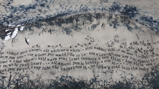 Ceramic Platter with Poetry