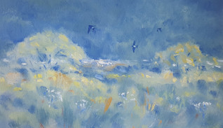 Summer Meadow with Housemartins