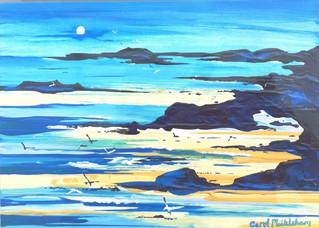 Blue Moon. Acrylic
