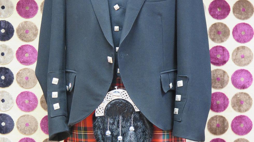 (HIRE) : FULL HIGHLAND DRESS KILT STEWART TARTAN