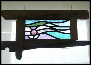 'Luskentyre'; Driftwood Framed Free-Hanging Panel