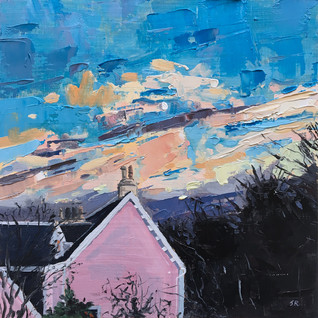 Rose Cottage At Sundown
